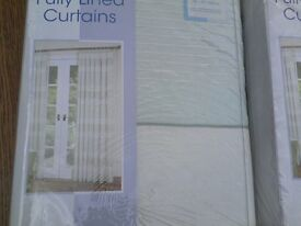 CURTAINS-NEW IN PACK-LINED