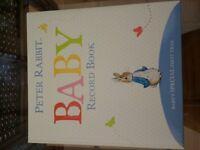 Peter Rabbit baby book plus soft baby photo album