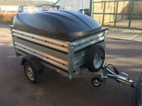 BRAND NEW BRENDERUP 1205s CAR BOX TRAILER with double side and ABS lid and spare wheel