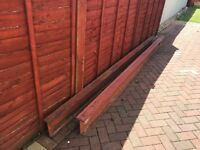 Rsj steel beams 2 of 3.4metres long x 203 high x 101 wide.
