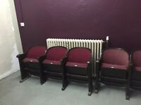 x2 vintage cinema seating - very good condition