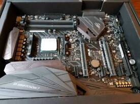 Crosshair vI hero motherboard with Ryzen 7 1800x cpu H110 water cooler and 850 rma power supply