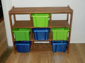 Storage unit with boxes - perfect for toys