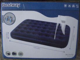 Inflatable double air bed (new and boxed)