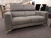 Ex Display Furniture Village Flavio Grey 2 Seater Sofa **CAN DELIVER**