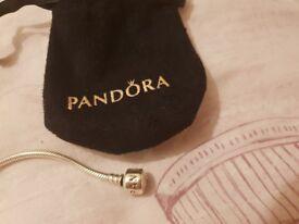 Pandora charm with bracelet 8inches hardly worn looks brand new