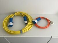 Caravan Motorhome electric hook up cable with home connection cable over 65 feet long new unused
