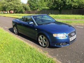 Audi A4 Convertible 3.0 TDI Quattro S Line Tiptronic 233PS, FSH, Just Serviced