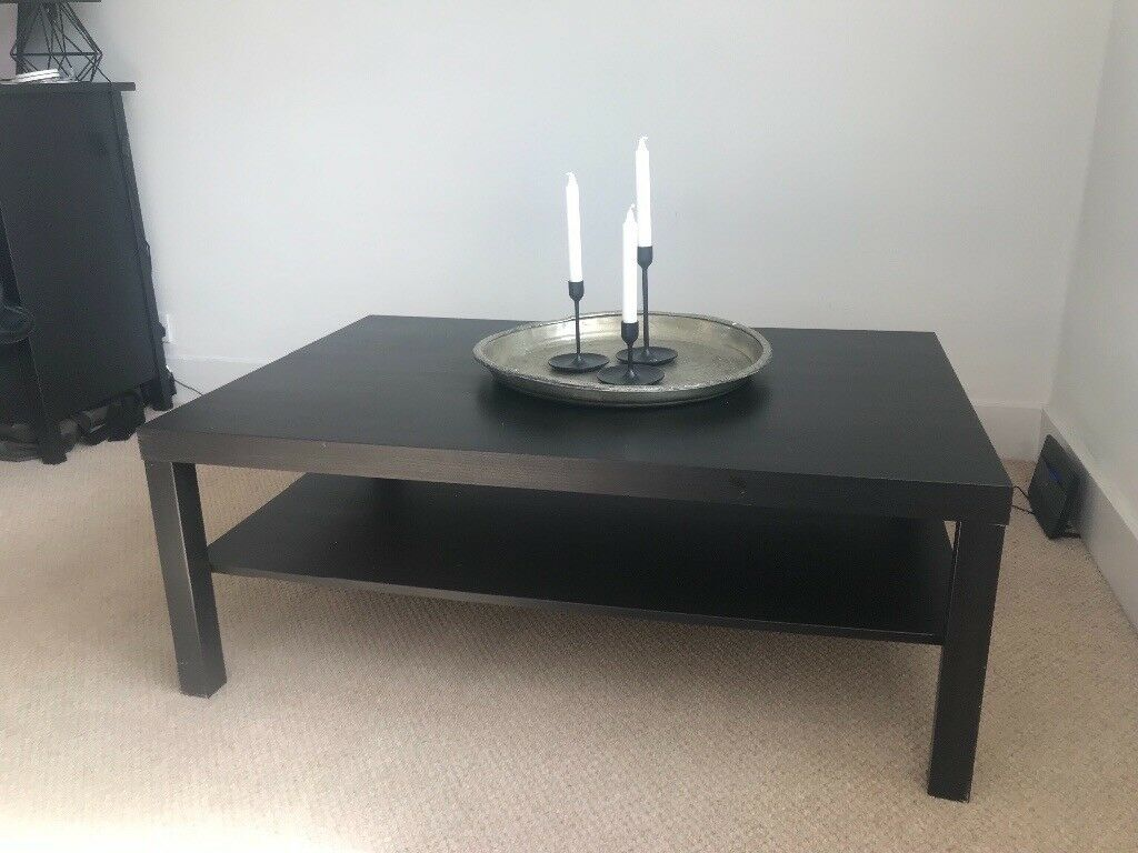 Ikea Lack Coffee Table Black Brown