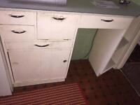 50s style retro kitchen cupboards