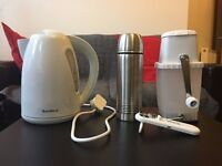 Kettle & stainless steel thermos flask for collection in Dalston