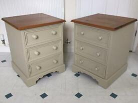 Quality Solid Pine Bedside Drawers