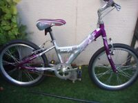 Girls Coyote Stardust Silver/Pink Bicycle