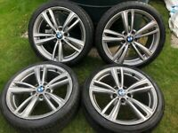 19 INCH 442 STYLE GENUINE BMW ALLOY WHEELS WITH RUN FLAT TYRES