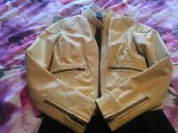 Leather jacket lemon biker style