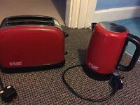 Russell hobbs Jug kettle & 2 slice toaster