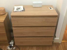 IKEA KULLEN - 3- Drawers (Oak)