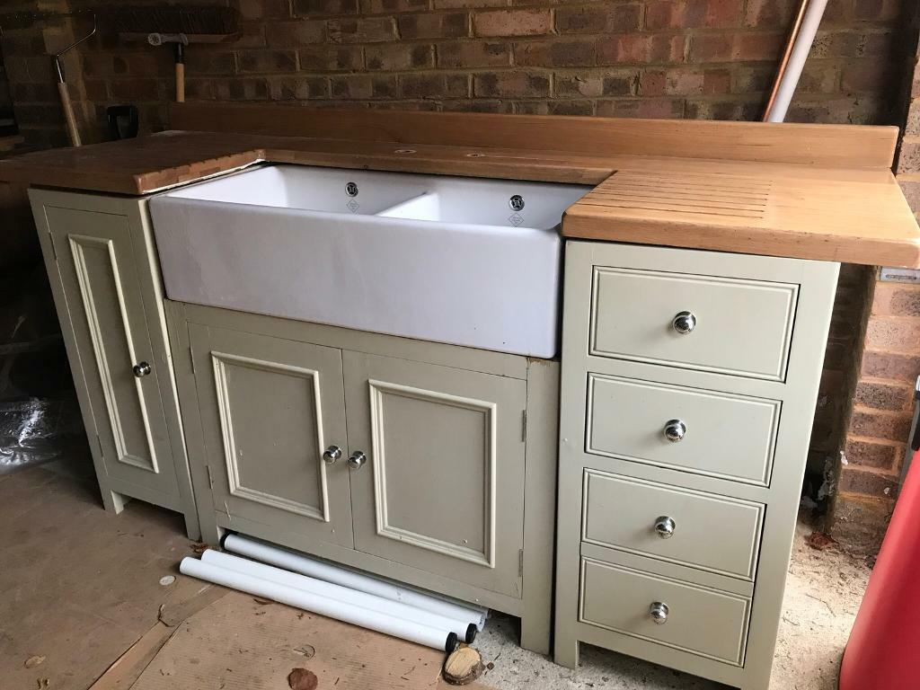 Kitchen sink unit with cupboards and drawers