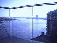 10th floor flat in New Providence Wharf with river views, balcony, gym, porter, spa, pool, views