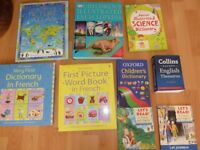 Children's Encyclopedia, french and english dictionary, atlas and science book.
