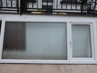 PIILKINGTON EVERGLADE OBSCURE DOUBLE GLAZED 86& QUARTER INCHES LONG & 39INCHES HIGH