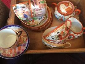 Assortment of Japanese crockery