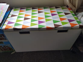 Children's Ikea Storage Box Trunk with Padded Seat