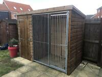 Dog kennel and Run - 8ft x 4ft - Heavy Duty - Instock