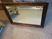 Large Bronze Effect Mirror 90cm x 65cm