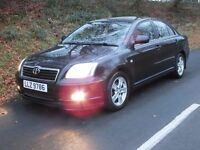 Nice 2003 Toyota Avensis 1.8 VVTI TX3 4dr ,long mot,looks and drives great, credit cards accepted.