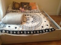 Super King size white ikea bed frame