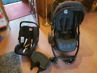 Oyster Travel system, pram, car seat, cot, all you need.