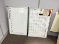 2 x large white board style office planners - 1 Monthly (unopened) 1 Annual