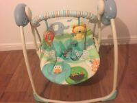 Bright Starts Up Up and Away Portable Baby Swing