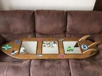 Custom made surfboard shelves & mirror