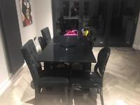 Black gloss table Dining Tables Chairs for Sale Gumtree