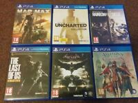 ps4 6 games £12 each