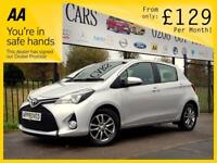 TOYOTA YARIS 1.3 VVT-I ICON M-DRIVE S 5d AUTO 99 BHP Apply for (silver) 2015