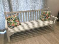 6ft Wooden Bench Shabby Chic White