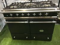 Lovely Lacanche Cluny Range cooker Double Oven green and chrome kitchen applianc