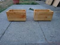 2 Wooden Planters