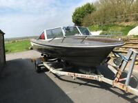 Sorcerer 15 Speed Boat Hull and Trailer. ONO