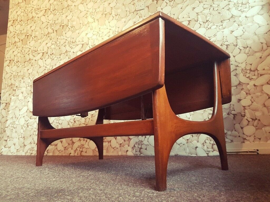 Stunning Rare Retro Mid Century Teak Drop Leaf Coffee Table Danish G Plan Style