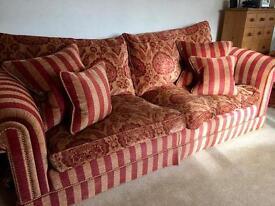 Beautiful regency 3 piece suite & footstool