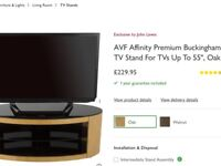 Affinerty Buckingham plus tv stand retails £230 Boxed new