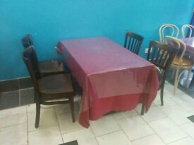 Restaurant table and chairs - fast food takeaway take away 4 2 seater seating catering shop front