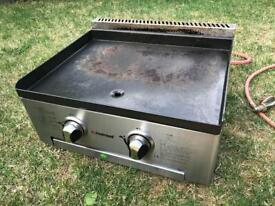 Commercial Gas Griddle 2 Burners