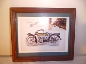 FRAMED ROYAL ENFIELD MODEL NO 140 PRINT.