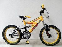 "(2599) 16"" 9.5"" RALEIGH KOOL X FS Boys Girls Kids Childs MOUNTAIN BIKE BICYCLE Age: 5-7, 110-125 cm"