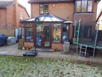 Rosewood Upvc Conservatory Glass Roof Very good condition 4500mm x 3750mm